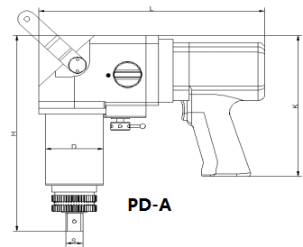 PD-A pneumatic torque wrench dimension